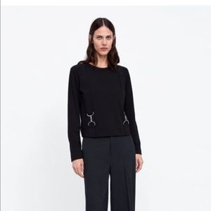 NWT's Zara Carabiner Shirt lock details Size S M